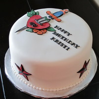 Traditional Tattoo-Themed Cake