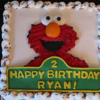 Alphabet Elmo Buttercream with fondant accents.