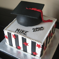 Stars & Stripes Graduation Cake