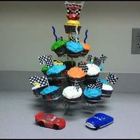 Cars Cupcake Stand I enjoyed making this Cars themed cupcake tower. I made is for a 6 year old who was having his party at Chuckie Cheese. His mom wanted...