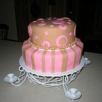 Pink And Brown Baby Girl This is only my second attempt at using fondant the first one was a present but this one I made for my sister-in-laws baby shower. It...