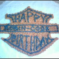 Happy Birthday Harley Davidson This is the top of my previous cake. This shows the Harley emblem with the words exchanged.