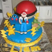Pokemon Cake Thanks to alanahodgson - her cake inspired mine! This is a chocolate frosted chocolate cake covered with vanilla rolled buttercream. The...