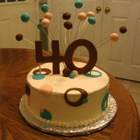 "Julia's 40Th Birthday This cake was for my best friend's 40th birthday. 10"" round iced in buttercream with fondant."