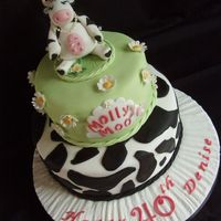Molly Moo Cake For a lady who's nickname is molly moo