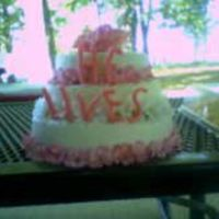 He Lives Cake This is a three layer chocolate, strawberry, and lemon cake covered in MMF. The letters are made of candy clay. I made this cake for my...