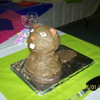 Grooms Cake- Beaver This is a grooms cake I made for an anniversary celebration. It and the 3-tiered white wildflower cake were my first paid cakes. The beaver...