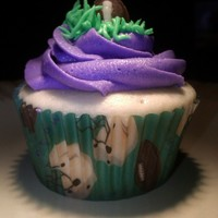 Baltimore Ravens Cupcakes cupcakes i made to go along with a baltimore ravens cake for a little boy