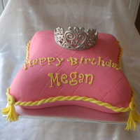 Pillow Cake My 1st attempt at a pillow cake and my 2nd attempt at a fondant covered cake! this was a vanilla cake with white chocolate buttercream and...