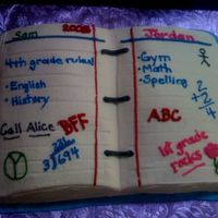 School Binder Notebook All Buttercream I made this for my girls Thanks to lambshark for the inspiration
