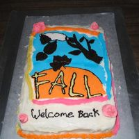 Back To School First attempt at a FBCT. The roses were just for practise. They were not meant to be on the cake, but my daughter insisted on them. You can...