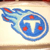 Titans Tennessee Titans cake. White cake with buttercream