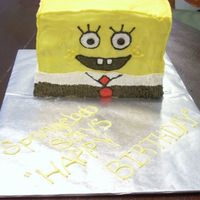 Spongebob Spongebob stacked cake. 6 layers. Buttercream Icing. Thanks for looking!
