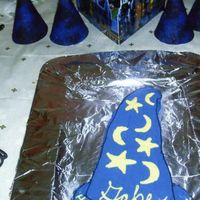 Wizard Hat Cake My son wanted a Harry Potter birthday party a couple of years ago. I decided to make a wizard hat. I made the template for it myself. I was...