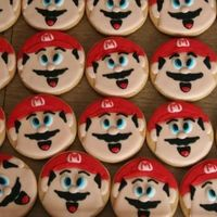Super Mario Cookies Mario cookies for a 7th birthday party.