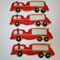Fire Engine Biscuits Fire Engine Biscuits for a little boys 4th Birthday.