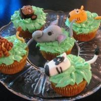 Jungle Animals Here is the view of all of them. All made of fondant.