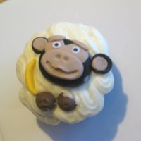 "Monkey Cupcake  My first try at Lorraine's (Aine2) ""cheeky monkey"" cupcake toppers. Thank you Lorraine! You give great instructions, I..."