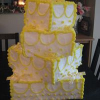 Lemon Draped Wedding Cake