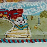 Train Birthday Cake Chocolate Sheet Cake with buttercream icing