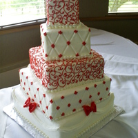 Offset Stacked Wedding Cake