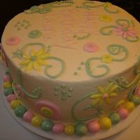 Fun Whimsy Birthday Cake! I made this eight inch round birthday cake with the WASC recipe and indydebi's icing! I received inspiration from Mosmom! I had so...
