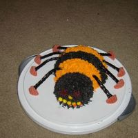Halloween Spider Got the idea from the Wilton Spider, but decided to tweak it a bit. I used half of the 3-d ball pan for the body and a large cupcake for...