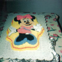 Minnie Mouse This is covered in buttercream