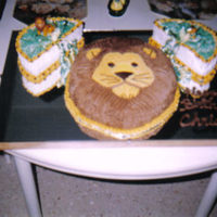 Lion Covered in buttercream.