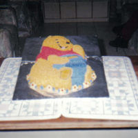 Pooh Covered in buttercream.