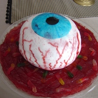 Eye Cake Eye cake made for son's halloween block party.
