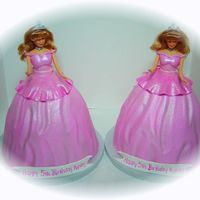 Barbies For two parties, wilton doll picks, buttercream, fondant accents