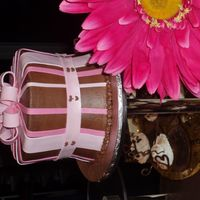 Chocolate Challenge Charity Event Choc on choc with fondant accents. Our color scheme was choc and pink. We won best presentation.