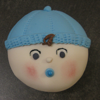 Baby Boy Faces Baby boy baby shower cupcakes. Fondant with buttercream hair.