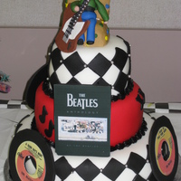 Beatles Forever! Client wanted Beatles theme for husband's 60th birthday party. Everything fondant. I absolutely love the Beatles and this was great...