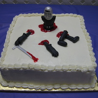 Dismembered Black Knight This was a groom's cake. They wanted the Black Knight standing on his torso with his legs and arms dismembered.