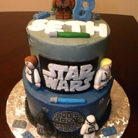 Lego Star Wars Customer emailed me a pic of a cake she wanted replicated. Did my best at doing just that. She loved the turn out =) TFL!