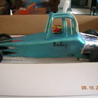 Jr. Dragster   This is a cake that looks liek the car my son races. He was wanting something just like his car.