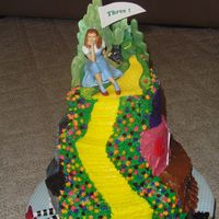 Wizard Of Oz  Took inspiration from all cakes on this site and used aspects of all of them. All bc except emerald city and of course figure. Emerald City...