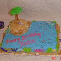 "Cakes_034.jpg  Half white, half chocolate, all buttercram except a few ""lay-ons"" per request of child. Palm tree is royal for leaves using tip..."