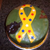 Army Camo Cake I made this cake for my 19-year-old brother who's in the army. In 2 weeks he will be going over seas to Iraq for 18-24 months. It&#039...