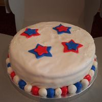 4Th Of July I made this cake very last minute for a 4th of July get together with friends. I was having continuous (!!!) trouble with my MMF - it kept...
