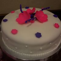 Contemporary Baby Shower This was my first fondant/cake decorating experience! I made this cake for a contemporary baby shower (bright girl colors). All of the...