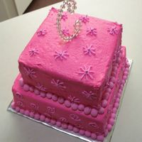 Pretty In Pink - Top View This is the top view of my sister's Pretty in Pink sweet 16 cake. Thanks for looking!