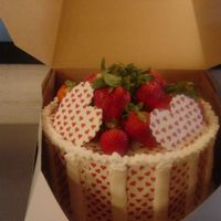 Extreme Chocolate Cake With Strawberry Mousse Chocolate decorations with transfer