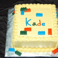 Lego Cake Thanks mom262 for the inspiration! Fondant legos and letters for the child's name. BC all else.