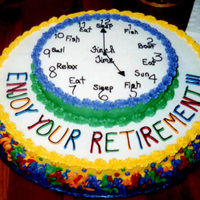 Best Boss In The World - Retirement Cake Made this cake when the best boss ever retired from work... sad day.