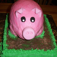 Pig Cake For A Pig Roast A friend ordered a cake for a pig roast... actually wanted a PIG... I couldn't bring myself to make a dead-roasting-on-the-spit type,...