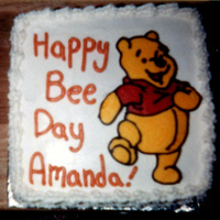 Happy Bee Day BCT of a silly old bear for my niece's birthday. She was amazed (it was one of the easiest cakes I've ever made... but don't...