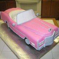 Pink Cadillac This is my second car cake and was a little nervous about the interior... but i think it turned out pretty good. It was made for a 50th...